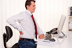 image of Low back pain from computer work